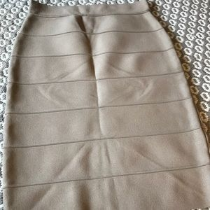 Khaki body con skirt
